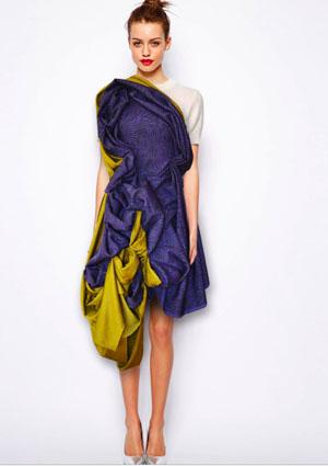 fialovo-žlté šaty